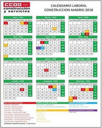 Calendario laboral de la construccion for Convenio jardineria